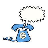 Telefone preto com botões — Vetor de Stock