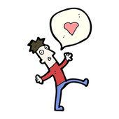 Man in love — Stock Vector