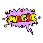 Magic shout — Stock Vector