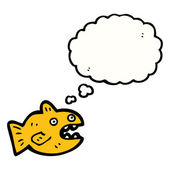 Goldfish with thought bubble — Stock Vector