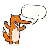 Honger fox — Stockvector
