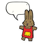 Oyuncak tavşan ile konuşma balonu — Stok Vektör