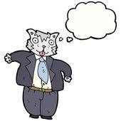 Gato gordo empresario — Vector de stock