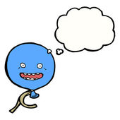 Floating balloon with speech bubble — Stock Vector