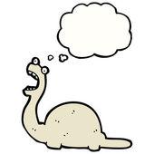 恐龙与思想泡泡 — 图库矢量图片