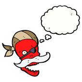 Funny red skull — Stock Vector