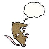 Rat having heart attack — Stock Vector
