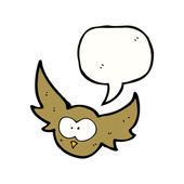 Flying owl — Stok Vektör