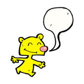 Teddy bear with speech bubble — Stock Vector