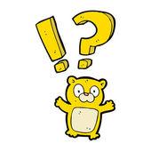 Schockiert teddybär — Stockvektor