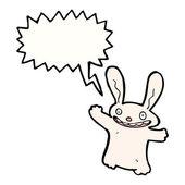 White rabbit — Stock Vector