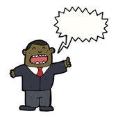 Shouting businessman — Stock Vector