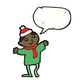 Christmas elf — Stockvektor
