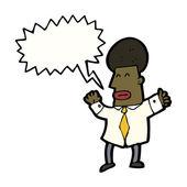 Shouting office guy — Stock Vector