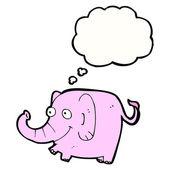 Pink elephant — Stock Vector