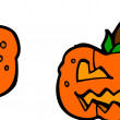 Halloween pumpkin — Vector de stock #21052819