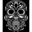 Skull ornament - Stock Vector
