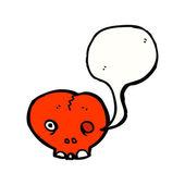 Red skull — Stock Vector