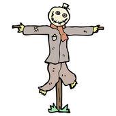 Quirky cartoon scarecrow — Stock Vector