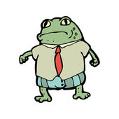 Frog in clothes — Stock Vector