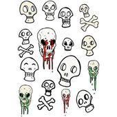 头骨颜色集合 — 图库矢量图片