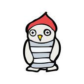 Owl wearing hat — Stock Vector