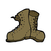 Old boots — Stock Vector