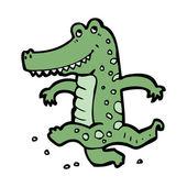 Dancing crocodile — Vector de stock