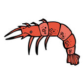 Shrimp — Vector de stock