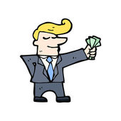 Businessman with cash — Stock Vector