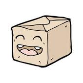 Happy box — Stock Vector