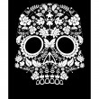 Day of the dead skull flower  — Stock vektor