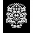 Stock Vector: Day of the dead skull flower