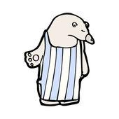 Polar bear wearing apron — Stock Vector