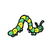Happy caterpillar — Stock Vector