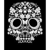 Day of the dead skull flower — Stock Vector