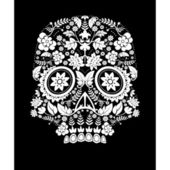 Day of the dead skull flower — Stock Vector