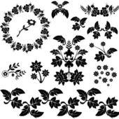 Dekorativní květinové — Stock vektor