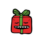 Happy christmas present — Vector de stock