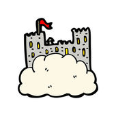 Floating castle — Stock Vector