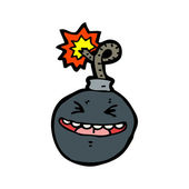Happy bomb — Stock Vector