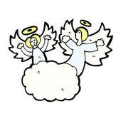 Angels on cloud — Stock Vector