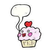 Pratende cupcake — Stockvector