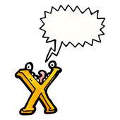 Pazzo lettera x — Vettoriale Stock