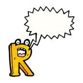 Crazy písmeno r — Stock vektor