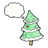 Dancing christmas tree — Vetor de Stock