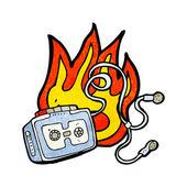 Personal cassette player — Cтоковый вектор