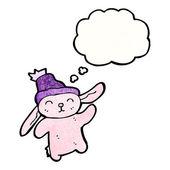 Pink rabbit — Stock Vector