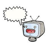 Křik televize — Stock vektor