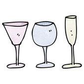 Collection de verres à vin — Vecteur
